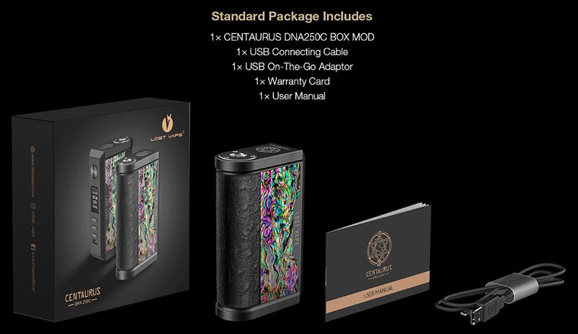 Lost Vape Centaurus DNA250C Mod Feature 12
