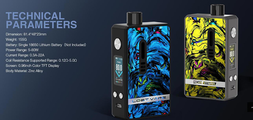 Lost Vape Gemini Hybrid Kit Feature 9