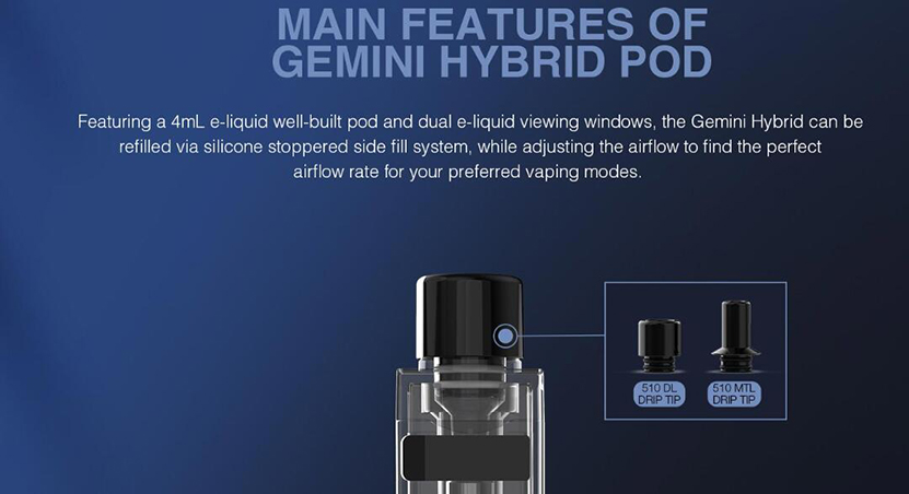Lost Vape Gemini Hybrid Kit Feature 10
