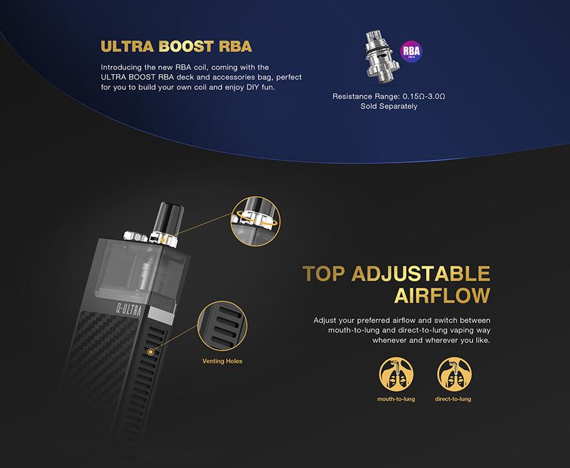 Q-ULTRA Pod Kit Adjustable Airflow