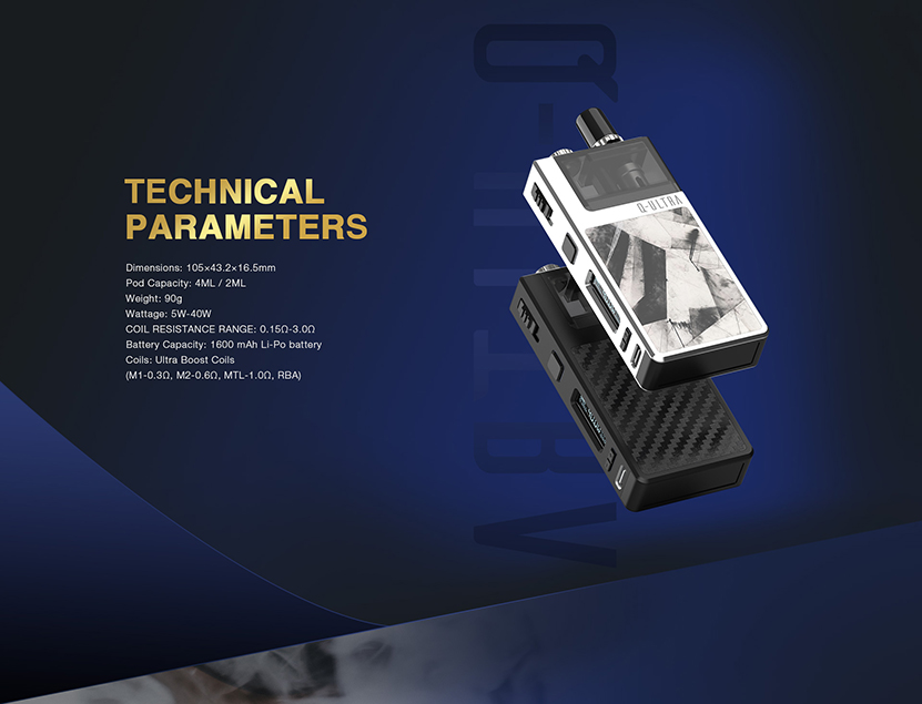 Q-ULTRA AIO Pod Kit Parameter