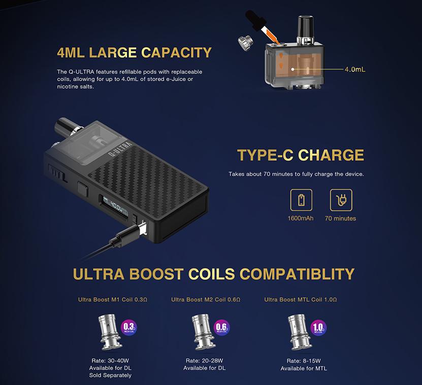 Q-ULTRA Pod Kit Pod Cartridge and Coil