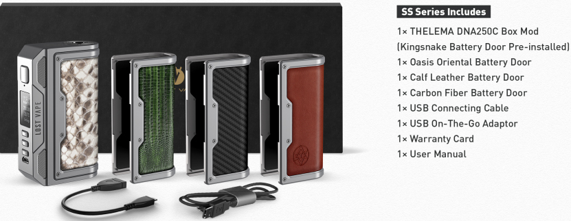 Lost Vape Thelema DNA250C Mod Limited Edition SS package
