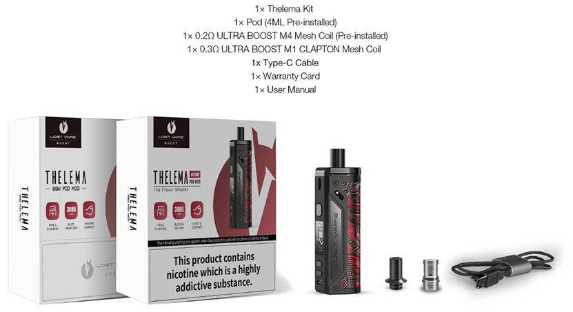 Lost Vape Thelema Kit Package