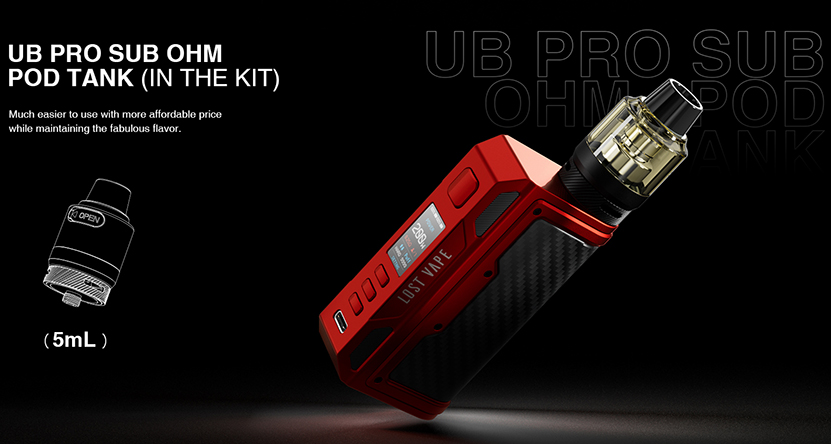 Lost Vape Thelema Quest 200W Kit E-juice Capacity