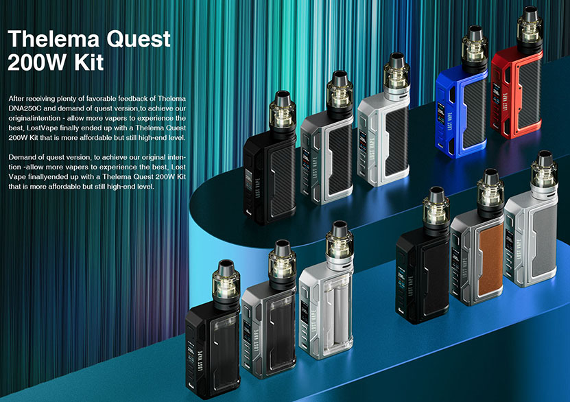 Lost Vape Thelema Quest Mod Kit Features
