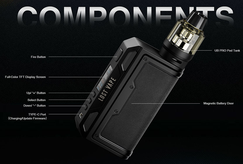 Lost Vape Thelema Quest Mod Kit Components