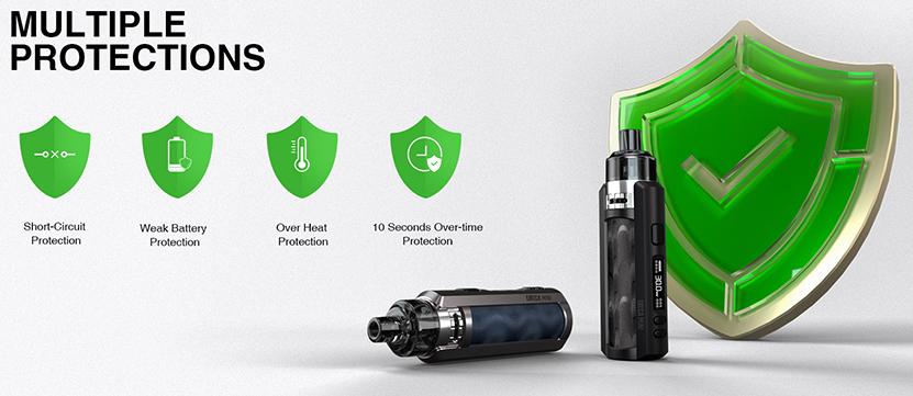 Lost Vape Ursa Mini Pod System Kit Safety Protections