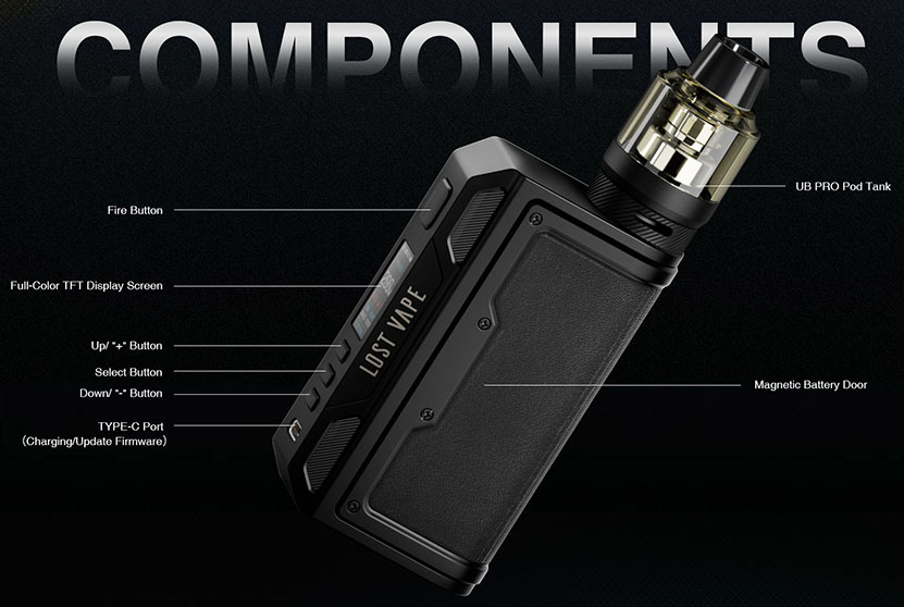 Lostvape Thelema Quest 200W Mod Components