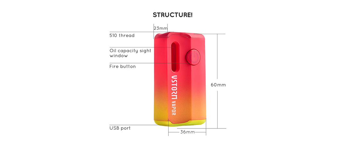 M1 Oil Vape Mod Structure