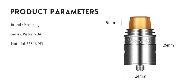 MaskKing Piston RDA Features 1