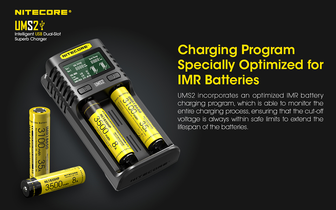 Nitecore UMS2 Charger Charging Program1