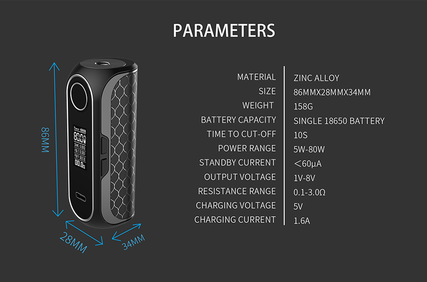 Cube FP Box Mod Specification
