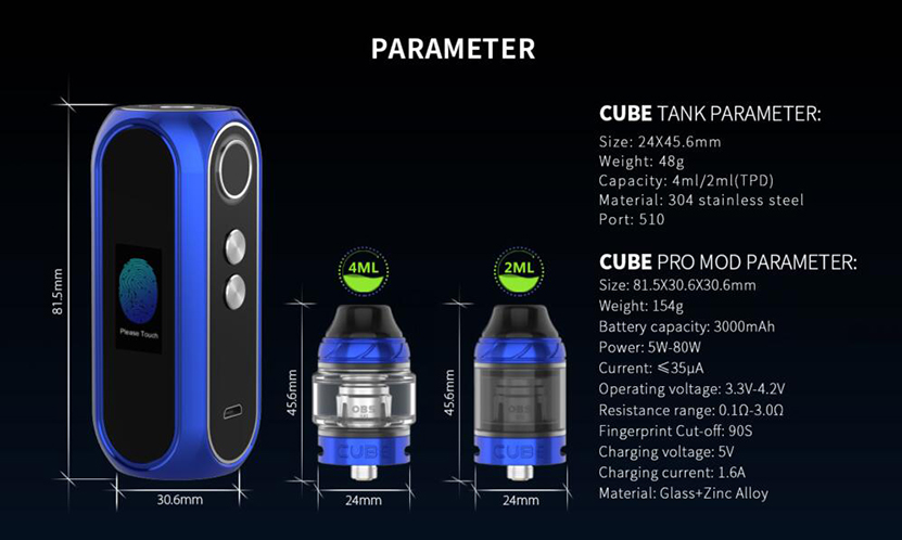 OBS Cube Pro 80W Mod Feature 6