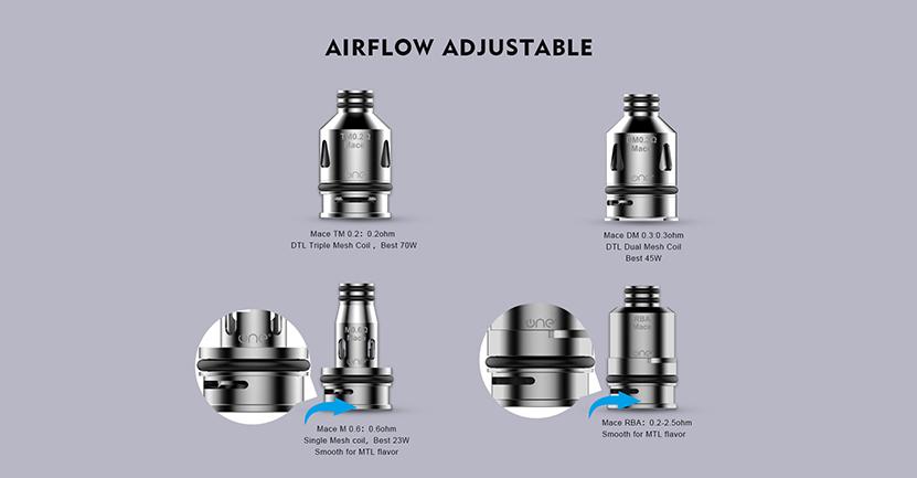OneVape Mace Replacement Pod Cartridge Airflow Adjustable