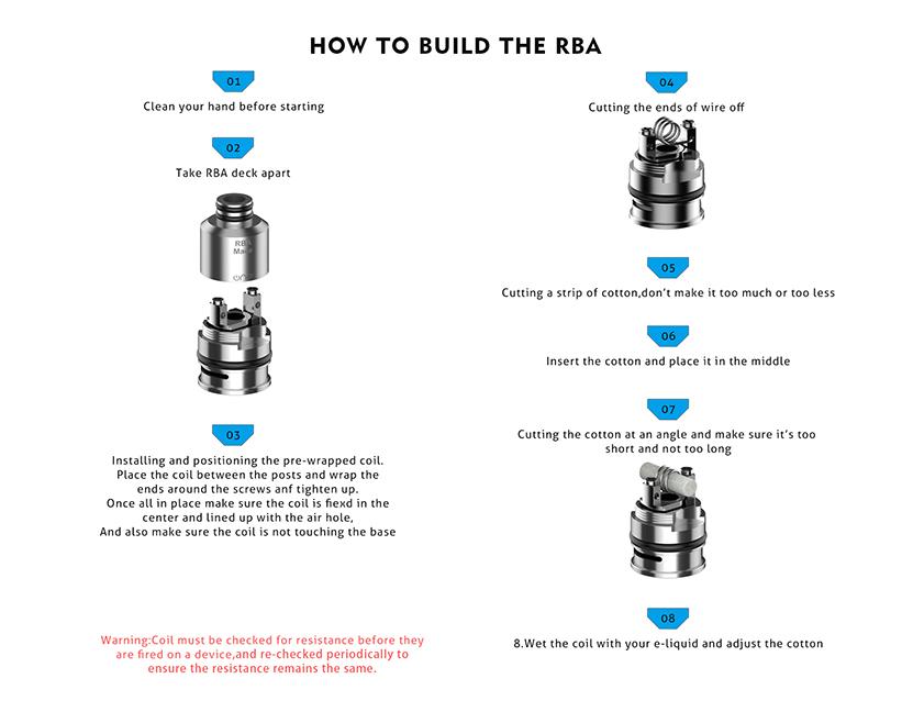 OneVape Mace Pod Cartridge How to build the RBA