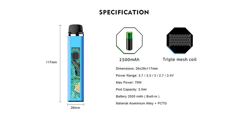 OneVape Mace80 Pod Kit Feature 8