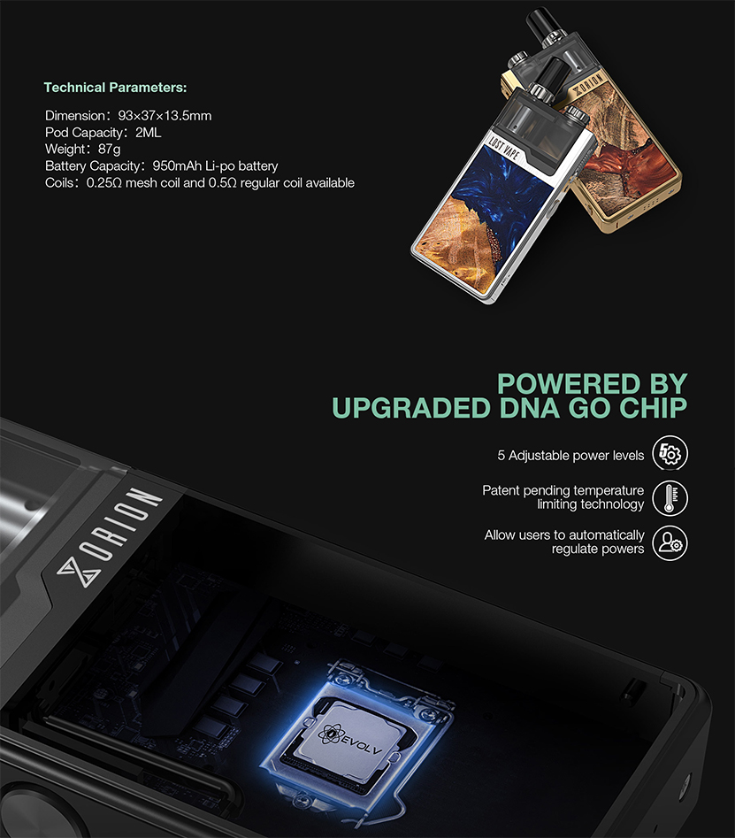 Orion Plus DNA Kit Size