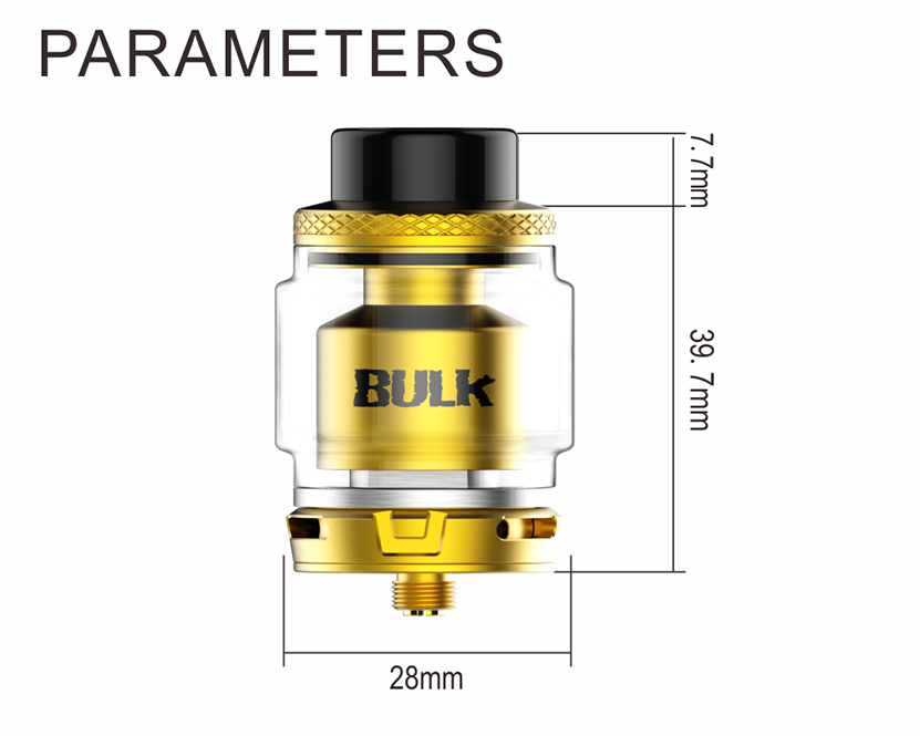 Oumier Bulk RTA Tank Atomizer Parameters