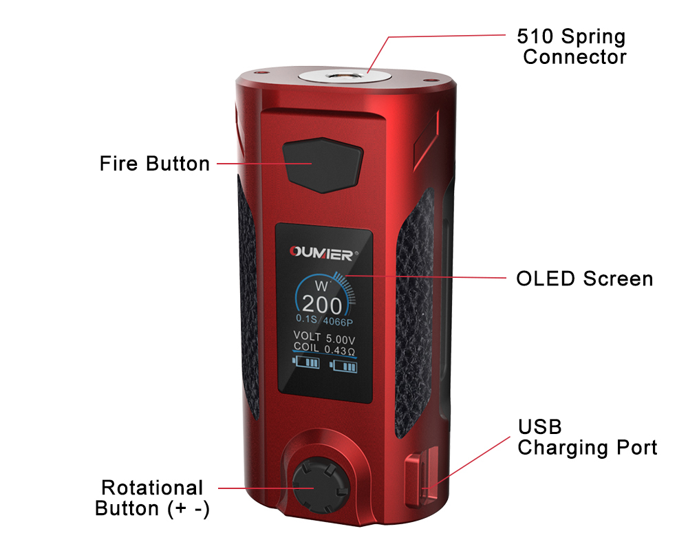Oumier Rudder Box Mod Overview