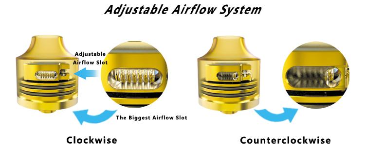Oumier Wasp Nano RDA Rebuildable Drip Atomizer Airflow