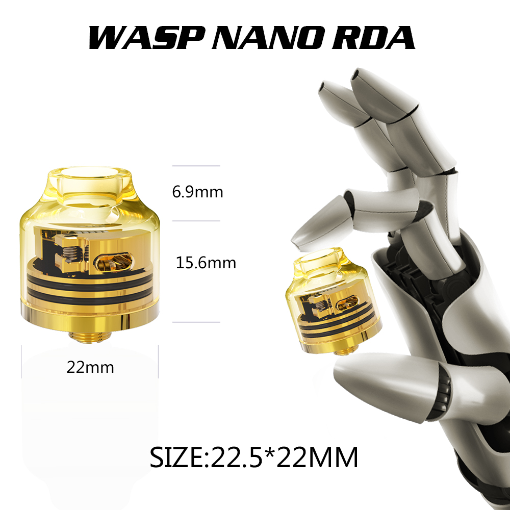 Oumier Wasp Nano RDA Transparent Version Size