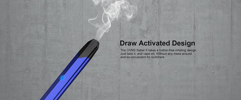Ovns Saber 2 Pod Kit draw activated design