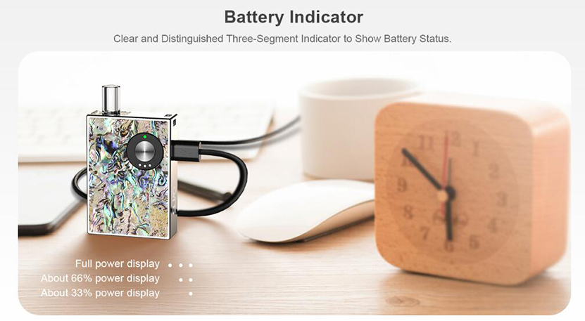 JC02 Pod Kit Battery Indicator