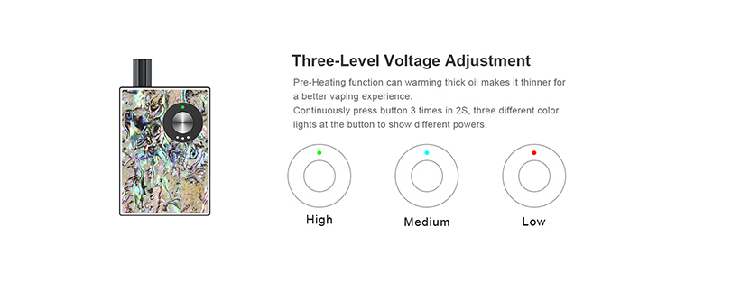 Ovns JC02 Pod Starter Kit Voltage Adjustment