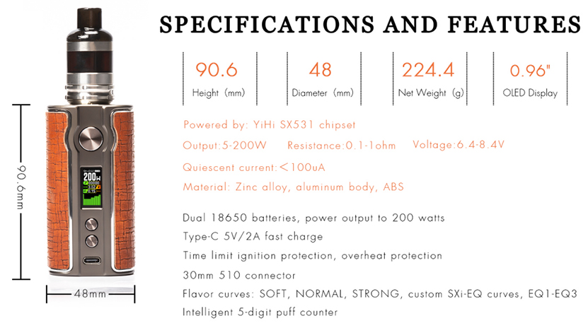 Pioneer4You iPV V200 Mod specification