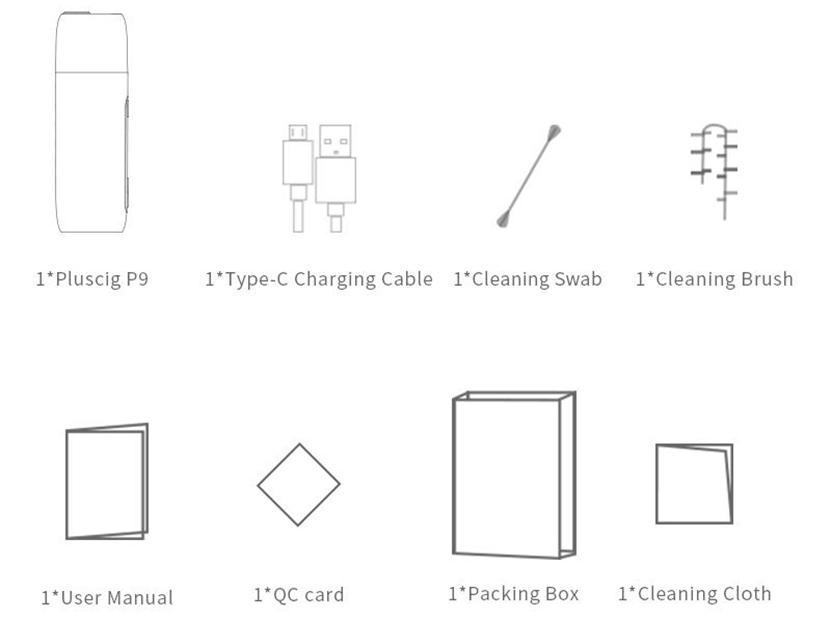 Pluscig P9 Kit Package