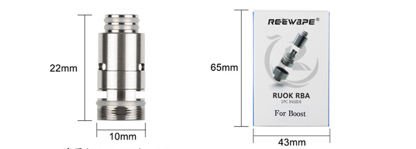 Reewape RUOK RBA Coil for Aegis Boost Pod Size