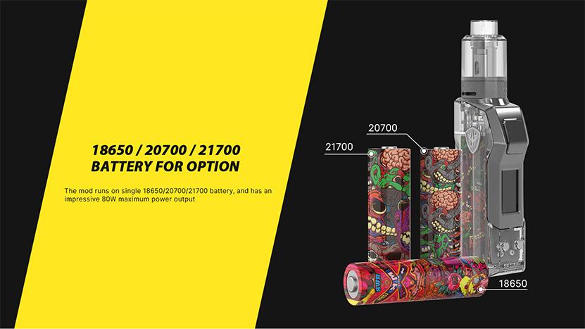 Jellybox Mini 80W Mod battery
