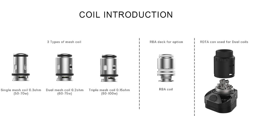 Rincoe Manto Max RDTA for dual coil