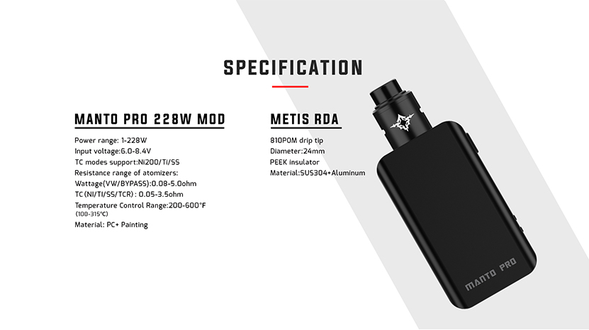 Rincoe Manto Pro 228W RDA Kit Feature 6