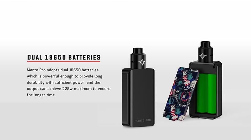 Manto Pro 228W Mod Battery