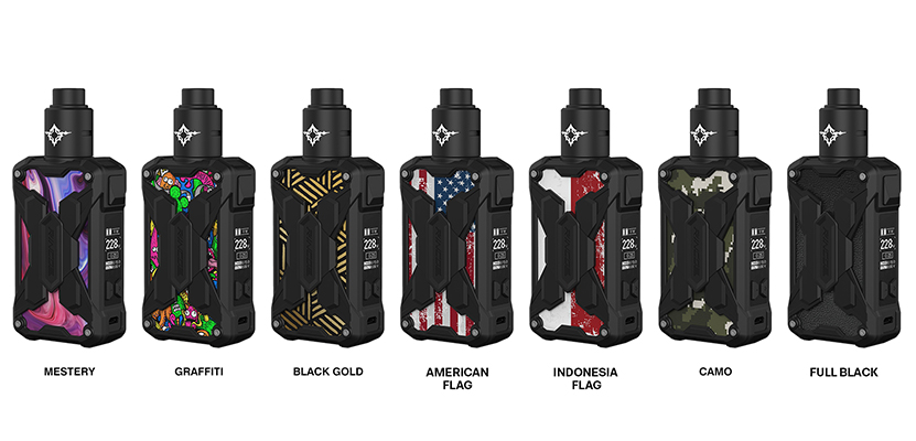 Rincoe Mechman Lite 228W RDA Kit Full Colors