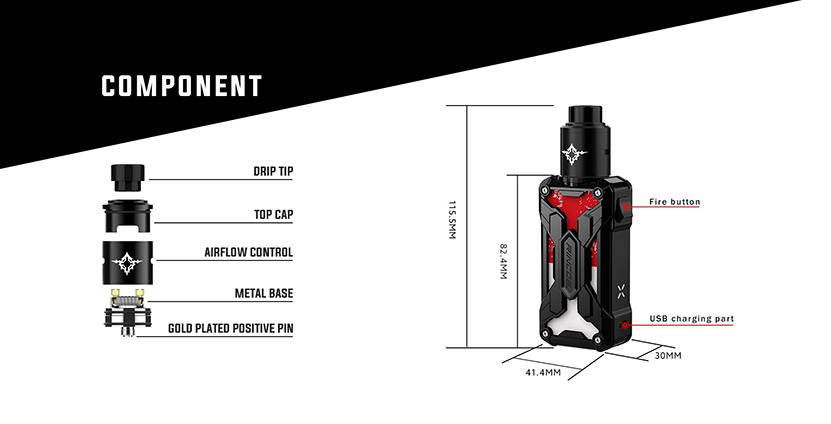 Rincoe Mechman Nano 90W RDA Kit Features 3
