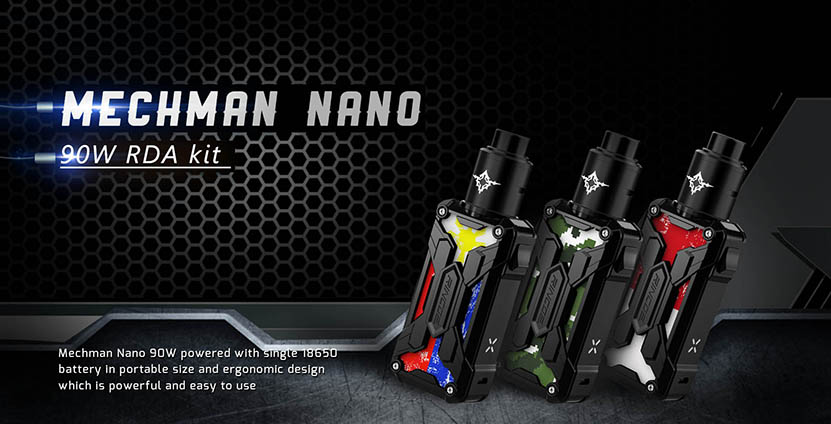 Rincoe Mechman Nano 90W RDA Kit Features 1