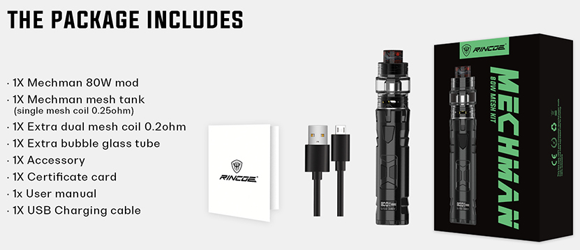 Mechman 80W Starter Kit Features 09