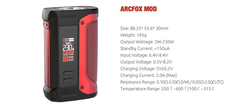 SMOK Arcfox Box Mod Feature 5