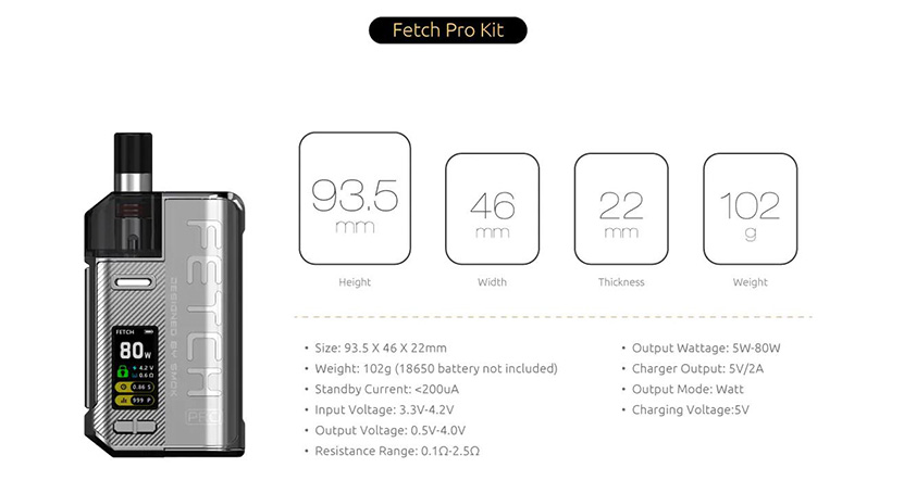 SMOK Fetch Pro Kit Feature 13