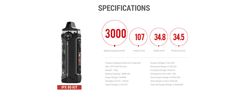 SMOK IPX 80 Kit Feature 15