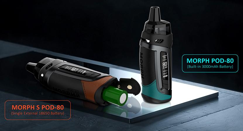 SMOK Morph Pod 80 Kit Battery Capacity