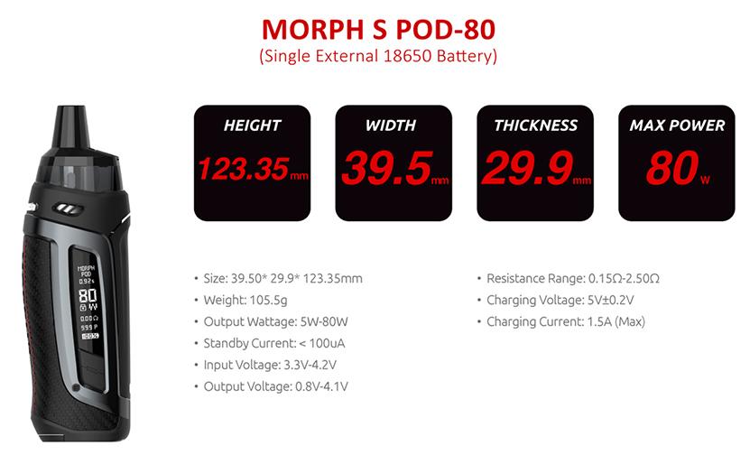 SMOK Morph S Pod 80 Kit Feature 19