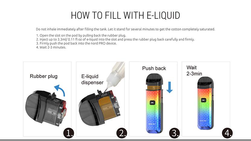 SMOK Nord  Pro Kit Liquid Filling