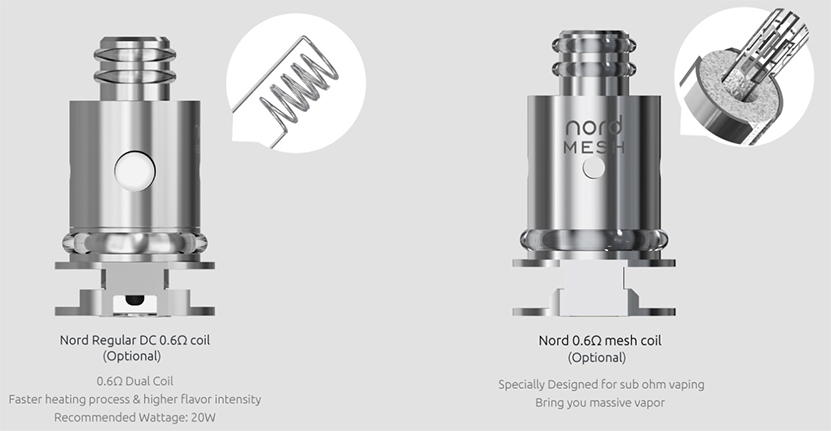 SMOK Nord Replacement Coil Introduction 2