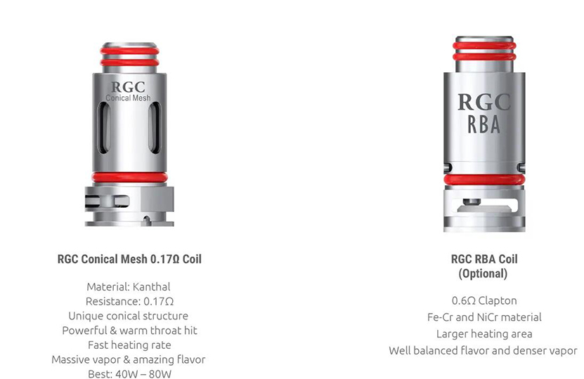 SMOK RGC Empty Pod Cartridge Coil intruduction