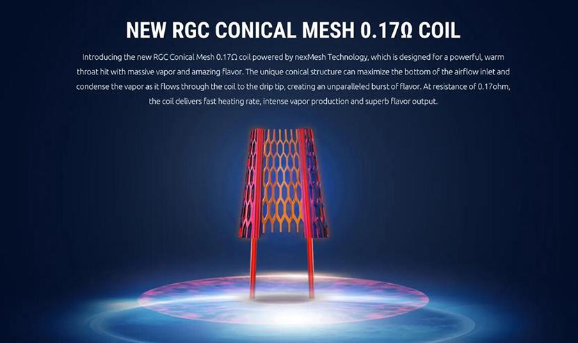 SMOK RGC Pod Cartridge New RGC Conical Mesh 0.17ohm Coil