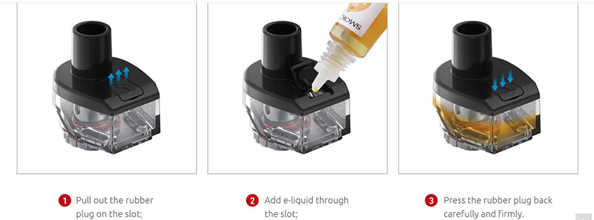 SMOK RPM80 Replacement Pod Cartridge Refilling the juice